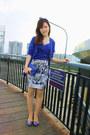 Blue-cardigan-blue-bodysuit-white-bodycon-thai-skirt