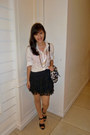 Black-romwecom-skirt-white-forever-21-shirt-light-brown-gaudi-bag