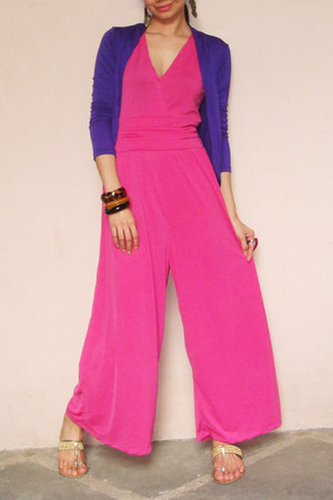 hot pink wide leg Fashion Fruit bodysuit - purple Fashion Fruit cardigan