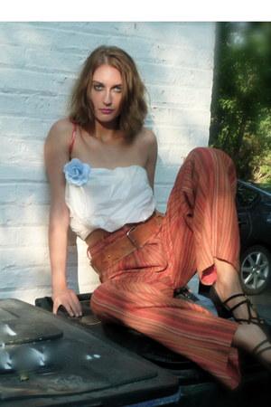 garbage bag shirt - vintage shoes - vintage pants - vintage belt
