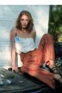 Vintage-shoes-garbage-bag-shirt-vintage-pants-vintage-belt