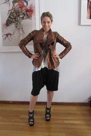 Green Proenza Schouler shoes - Givenchy shorts - Sacai t-shirt - PROENZA SCHOULE