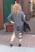 black Givenchy shoes - Rick Owens sweater - Alexander Wang shorts - Lori Goldste