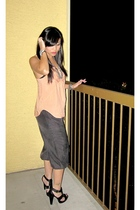 pink Urban Outfitters top - gray f21 pants - black Zara shoes