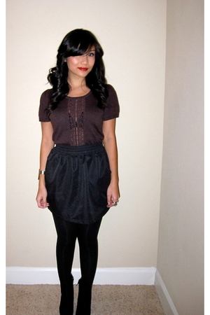black American Apparel skirt - purple Marc by Marc Jacobs sweater - black Target