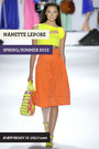 yellow Nanette Lepore top - orange Nanette Lepore skirt