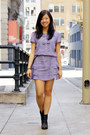 black H&M boots - light purple Primark dress - black belt