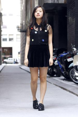 black Painted Bird shoes - black Painted Bird top - black Painted Bird skirt
