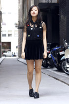black Painted Bird shoes - black Painted Bird top - black Painted Bird skirt
