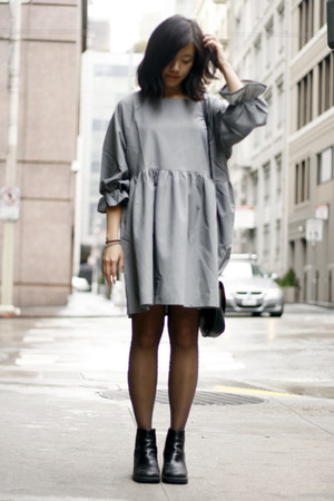 silver THE WHITEPEPPER dress