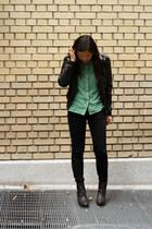 black H&M boots - black Target jacket - black Levis pants