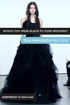 black bridal vera wang dress