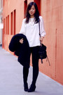 Black-shaggy-vintage-coat-black-bag-black-zara-wedges