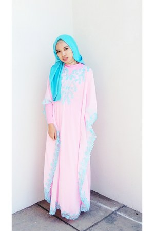 light pink kaftan local brand dress