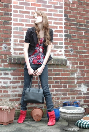H&M top - delias jeans - Dollhouse shoes