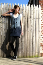 H&M t-shirt - Urban Outfitters dress -  tights - Dollhouse shoes