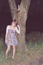 beige Topshop intimate - pink La Queeno dress - beige Dorothy Perkins shoes - si