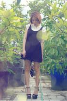black lace asos dress - button up Nyla shirt