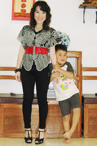 from Bali top - belt - Miss Sixty pants - shoes - accessories