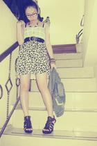 Dakota Rochdale dress - belt - diva necklace - jeans - GoJane shoes