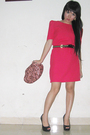 Pink-from-thailand-dress-pink-mango-accessories-black-aldo-shoes-gold-unkn