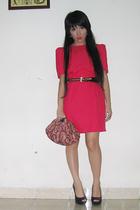 gray ring Mango accessories - pink clutch bag Mango accessories