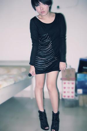 black iconia dress - black shoes