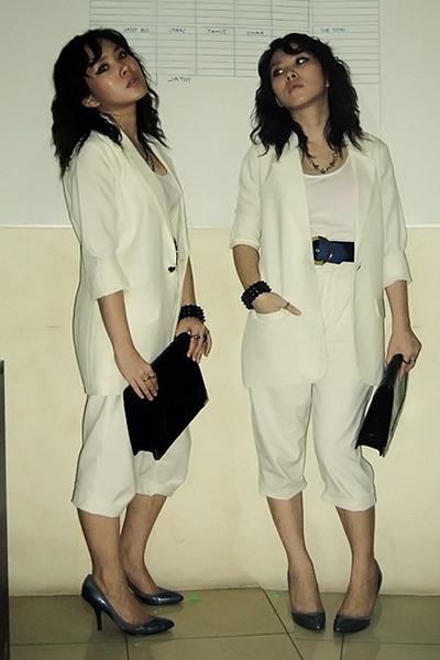 aDDorable blazer - shirt - unknown brand pants - belt - Mitchybelle purse - Nine