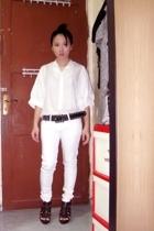 shirt - jeans - belt - GoJane shoes