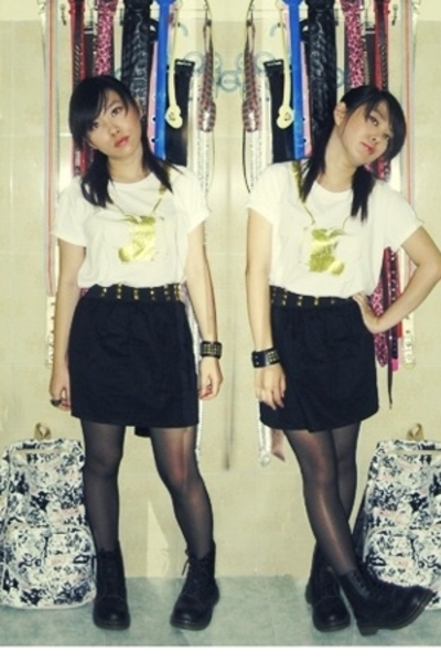 shirt - skirt - stockings - Dr Martens shoes
