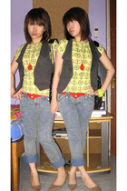 Mango shirt - H2O vest - Euphoria jeans - Chanel purse