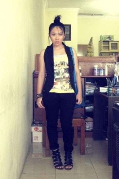 vest - Mango shirt - Nyla pants - shoes - accessories - Louis Vuitton accessorie