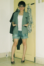blazer - shirt - jeans - shoes
