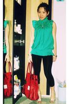 Topshop blouse - Jus DOrange pants - Nine West shoes - Miu Miu purse