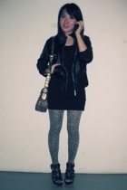 jacket - dress - tights - gojanecom shoes - AdLabelized by Adeline purse