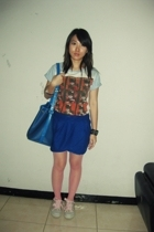 t-shirt - H2O skirt - stockings - shoes