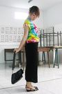 Red-from-bali-t-shirt-black-myclo-house-dress-black-charles-keith-shoes-