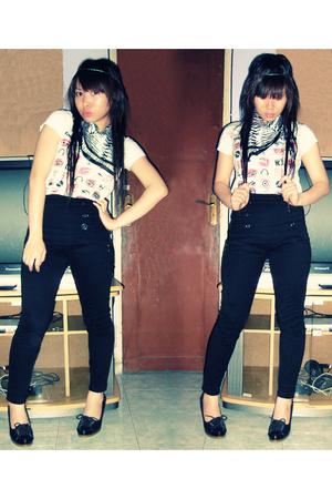 shirt - scarf - pants - Zara shoes