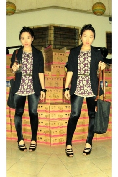 Ayuka blazer - Zara shirt - Zoom leggings - Charles &amp; Keith shoes