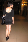 Black-nyla-dress-black-shoes