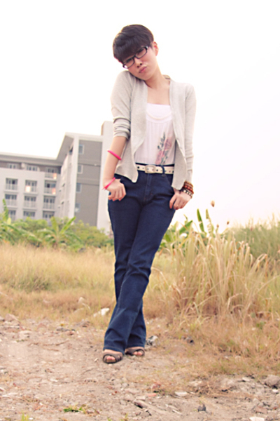 unknown blazer - Mango top - Lee Cooper jeans - shoes