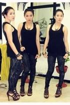 Zara shirt - leggings - GoJane shoes - accessories - accessories - accessories