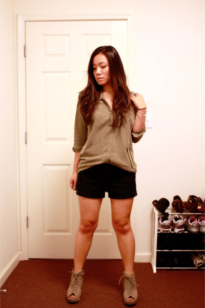 blouse - shorts - shoes