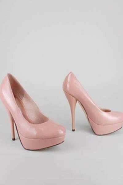 light pink platform pumps GoJane heels