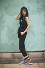 Black-silk-muziq-shirt-black-cotton-muziq-pants
