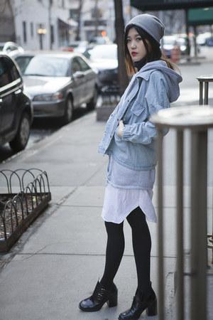 light blue romwe coat