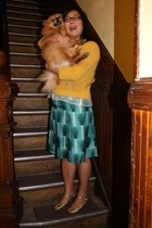Orla Kiely sweater - Orla Kiely skirt - H&M blouse - Jeffrey Campbell shoes