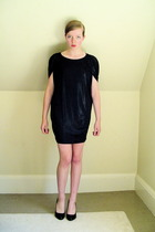 black shiny Chic Rewards dress - black patent pumps Target shoes