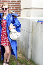 blue graduation robe dress - red made by me dress