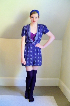 vintage dress - Urban Outfitters swimwear - H&M socks - Steve Madden shoes - DIY